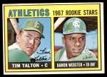 1967 Topps #603   -  Tim Talton / Ramon Webster Athletics Rookies Front Thumbnail