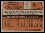 1972 Topps #488  Mike Nagy  Back Thumbnail