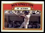 1972 Topps #426   -  Ken Singleton In Action Front Thumbnail