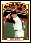 1972 Topps #295  Dick Dietz  Front Thumbnail