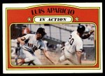 1972 Topps #314   -  Luis Aparicio In Action Front Thumbnail