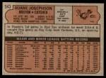 1972 Topps #543  Duane Josephson  Back Thumbnail