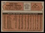 1972 Topps #549  Dave May  Back Thumbnail