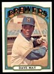 1972 Topps #549  Dave May  Front Thumbnail