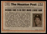 1972 Topps #440   -  Billy Williams In Action Back Thumbnail