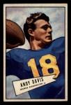 1952 Bowman Small #55  Andy Davis  Front Thumbnail