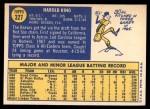 1970 Topps #327  Hal King  Back Thumbnail