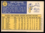 1970 Topps #485  Jay Johnstone  Back Thumbnail