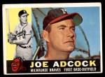 1960 Topps #3  Joe Adcock  Front Thumbnail