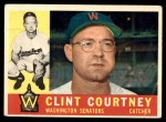 1960 Topps #344  Clint Courtney  Front Thumbnail