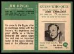 1966 Philadelphia #141  Jim Ringo  Back Thumbnail