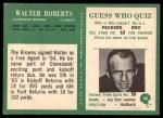 1966 Philadelphia #48  Walter Robert  Back Thumbnail