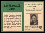 1966 Philadelphia #170   49ers Team Back Thumbnail