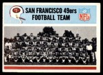 1966 Philadelphia #170   49ers Team Front Thumbnail