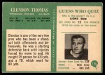 1966 Philadelphia #155  Clendon Thomas  Back Thumbnail