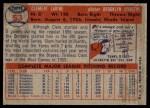 1957 Topps #53  Clem Labine  Back Thumbnail