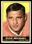 1961 Topps #143  Rich Michael  Front Thumbnail