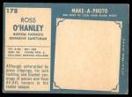 1961 Topps #178  Ross O'Hanley  Back Thumbnail
