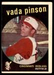 1959 Topps #448  Vada Pinson  Front Thumbnail