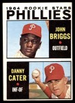 1964 Topps #482   -  Johnny Briggs / Danny Cater Phillies Rookies Front Thumbnail