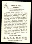 1961 Golden Press #22  Jimmie Foxx  Back Thumbnail