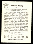 1961 Golden Press #33  Cy Young     Back Thumbnail