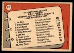 1972 O-Pee-Chee #87   -  Hank Aaron / Willie Stargell / Joe Torre NL RBI Leaders  Back Thumbnail