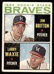 1964 Topps #94   -  Larry Maxie / Jim Britton Braves Rookies Front Thumbnail