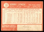 1964 Topps #193  Jerry Lynch  Back Thumbnail
