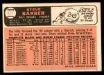 1966 Topps #477  Steve Barber  Back Thumbnail