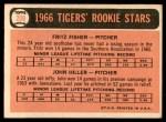 1966 Topps #209   -  Fritz Fisher / John Hiller Tigers Rookies Back Thumbnail