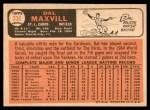 1966 Topps #338  Dal Maxvill  Back Thumbnail