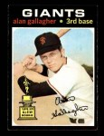 1971 Topps #224  Alan Gallagher  Front Thumbnail