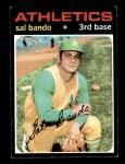 1971 Topps #285  Sal Bando  Front Thumbnail