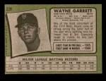 1971 Topps #228  Wayne Garrett  Back Thumbnail