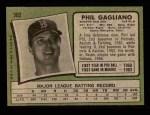 1971 Topps #302  Phil Gagliano  Back Thumbnail