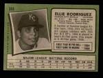 1971 Topps #344  Ellie Rodriguez  Back Thumbnail