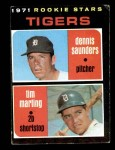 1971 Topps #423   -  Tim Marting / Dennis Saunders Tigers Rookies Front Thumbnail