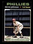 1971 Topps #490  Deron Johnson  Front Thumbnail
