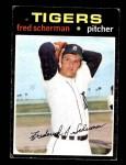 1971 Topps #316  Fred Scherman  Front Thumbnail