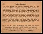 1941 Gum Inc. War Gum #67   Tokyo Bobmbed Back Thumbnail