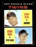 1971 Topps #391   -  Cotton Nash / Steve Brye Twins Rookies Front Thumbnail