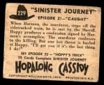 1950 Topps Hopalong Cassidy #229   Caught Back Thumbnail