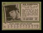 1971 Topps #255  Bob Robertson  Back Thumbnail