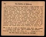 1941 Gum Inc. War Gum #78   The Battle Of Midway Back Thumbnail