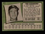 1971 Topps #571  Ted Sizemore  Back Thumbnail