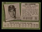 1971 Topps #568  Sal Campisi  Back Thumbnail