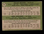 1971 Topps #52   -  Earl Williams / Oscar Brown Braves Rookies Back Thumbnail