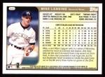 1999 Topps #342  Mike Lansing  Back Thumbnail