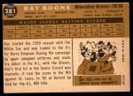 1960 Topps #281  Ray Boone  Back Thumbnail